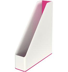 LEITZ Stehsammler WOW Duo Colour, PS, A4, 73 x 272 x 318 mm, weiß/pink