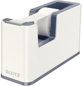LEITZ Tischabroller WOW Duo Colour, gefüllt, PS, weiß/grau