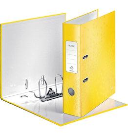 LEITZ Ordner WOW, Graupappe, SK-Rückenschild, mit Griffloch, A4, 80 mm, gelb