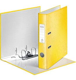 LEITZ Ordner WOW, Graupappe, SK-Rückenschild, mit Griffloch, A4, 52 mm, gelb