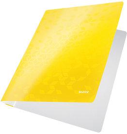 LEITZ Schnellhefter WOW, Karton, opaker Vorderdeckel, A4, gelb