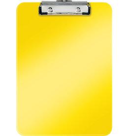 LEITZ Schreibplatte WOW, PS, Klemme kurze Seite, A4, 22,8 x 32 cm, gelb