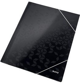 LEITZ Eckspanner WOW, PP-laminiert, Gummizugverschluss, A4, schwarz