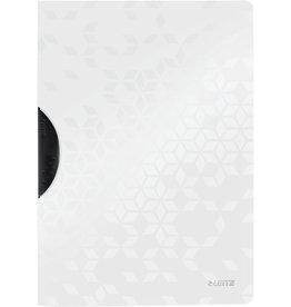 LEITZ Klemmmappe WOW ColorClip, PP, A4, 22,2 x 31 cm, für: 30 Blatt, weiß