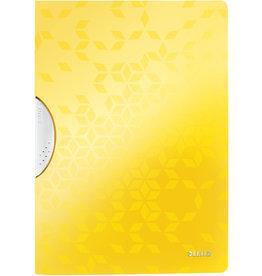 LEITZ Klemmmappe WOW ColorClip, PP, A4, 22,2 x 31 cm, für: 30 Blatt, gelb