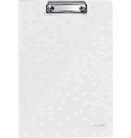 LEITZ Klemmblockmappe WOW, Polyfoam, Klemme kurze Seite, A4, weiß
