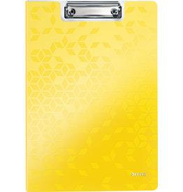 LEITZ Klemmblockmappe WOW, Polyfoam, Klemme kurze Seite, A4, gelb