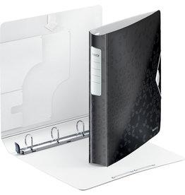 LEITZ Ringbuch Active WOW SoftClick, Polyfoam, A4, Ring-Ø: 30 mm, schwarz