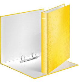 LEITZ Ringbuch WOW, A4, überbreit, 2-D-Ring-Mechanik, Ring-Ø: 25 mm, gelb