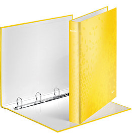 LEITZ Ringbuch WOW, A4, überbreit, 4-D-Ring-Mechanik, Ring-Ø: 25 mm, gelb