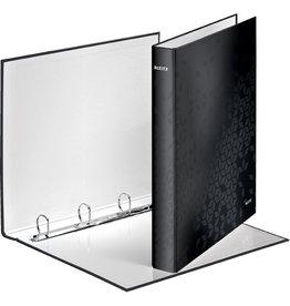 LEITZ Ringbuch WOW, A4, überbreit, 4-D-Ring-Mechanik, Ring-Ø: 25 mm, schwarz