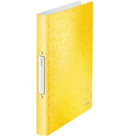LEITZ Ringbuch WOW, PP, A4, 2 Rund-Ring Mechanik, Ring-Ø: 25 mm, gelb