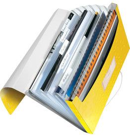 LEITZ Fächermappe WOW, PP, Gummizugverschluss, A4, 6 Fächer, gelb