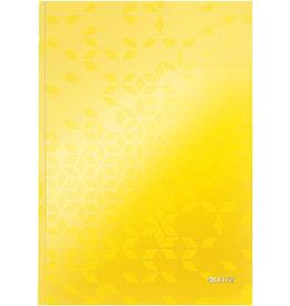 LEITZ Notizbuch WOW, liniert, A4, 90 g/m², Einband: gelb, 80 Blatt