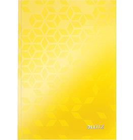 LEITZ Notizbuch WOW, liniert, A5, 90 g/m², Einband: gelb, 80 Blatt