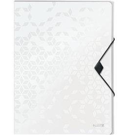 LEITZ Dokumentenbox WOW, PP, Gummizugverschluss, A4, perlweiß