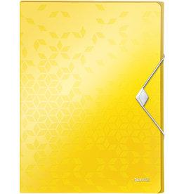 LEITZ Dokumentenbox WOW, PP, Gummizugverschluss, A4, 25 x 33 x 3 cm, gelb