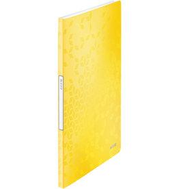 LEITZ Sichtbuch WOW, PP, 20 feste Hüllen, A4, 23,1 x 31 cm, gelb