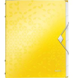 LEITZ Ordnungsmappe WOW, PP, Gummizugverschluss, A4, 6 Fächer, gelb