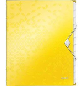 LEITZ Ordnungsmappe WOW, PP, Gummizugverschluss, A4, 12 Fächer, gelb
