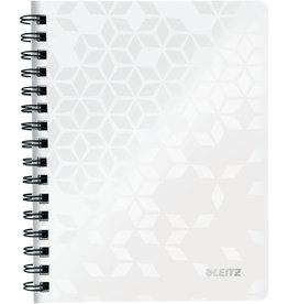 LEITZ Collegeblock WOW, liniert, A5, 80 g/m², Einband: weiß, 80 Blatt