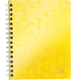 LEITZ Collegeblock WOW, liniert, A5, 80 g/m², Einband: gelb, 80 Blatt