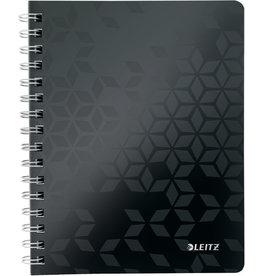 LEITZ Collegeblock WOW, liniert, A5, 80 g/m², Einband: schwarz, 80 Blatt
