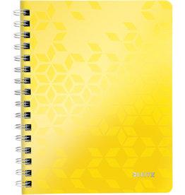 LEITZ Collegeblock WOW, kariert, A5, 80 g/m², Einband: gelb, 80 Blatt