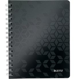 LEITZ Collegeblock WOW, kariert, A5, 80 g/m², Einband: schwarz, 80 Blatt