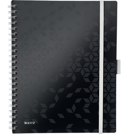 LEITZ Collegeblock WOW Be Mobile, liniert, A4, Einband: schwarz, 80 Blatt