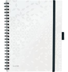 LEITZ Collegeblock WOW Be Mobile, kariert, A4, Einband: weiß, 80 Blatt