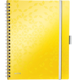 LEITZ Collegeblock WOW Be Mobile, kariert, A4, Einband: gelb, 80 Blatt