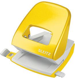LEITZ Locher NeXXt, WOW, mit Anschlagschiene, 30 Blatt, 3 mm, gelb