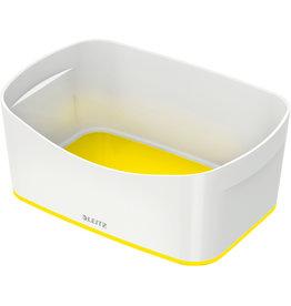 LEITZ Aufbewahrungsbox MyBox® WOW, Schale, ABS, weiß/gelb