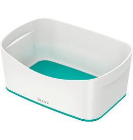 LEITZ Aufbewahrungsbox MyBox® WOW, Schale, ABS, weiß/eisblau