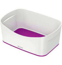 LEITZ Aufbewahrungsbox MyBox® WOW, Schale, ABS, weiß/violett