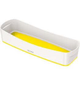 LEITZ Aufbewahrungsbox MyBox® WOW, Schale, länglich, ABS, weiß/gelb