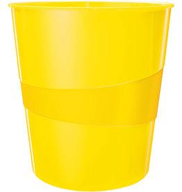 LEITZ Papierkorb WOW, PS, rund, 15 l, 290 x 324 mm, gelb