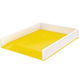 LEITZ Briefkorb WOW Duo Colour, PS, C4, 267 x 336 x 49 mm, weiß/gelb