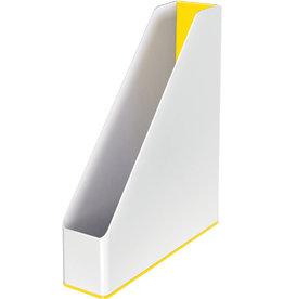 LEITZ Stehsammler WOW Duo Colour, PS, A4, 73 x 272 x 318 mm, weiß/gelb