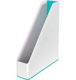 LEITZ Stehsammler WOW Duo Colour, PS, A4, 73 x 272 x 318 mm, weiß/eisblau