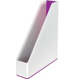 LEITZ Stehsammler WOW Duo Colour, PS, A4, 73 x 272 x 318 mm, weiß/violett