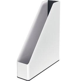 LEITZ Stehsammler WOW Duo Colour, PS, A4, 73 x 272 x 318 mm, weiß/schwarz