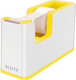 LEITZ Tischabroller WOW Duo Colour, gefüllt, PS, weiß/gelb