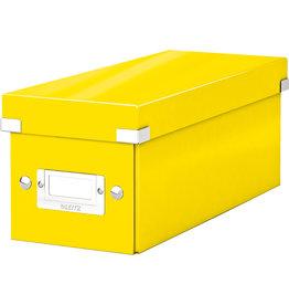 LEITZ CD-Box Click & Store WOW, mit Deckel, für: 30 CDs, gelb