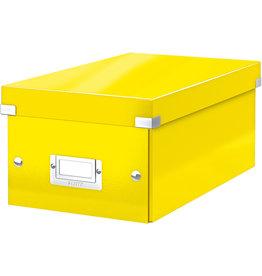 LEITZ DVD-Box Click & Store WOW, mit Deckel, für: 20 DVDs, gelb