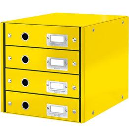 LEITZ Schubladenbox Click & Store WOW, mit 4 Schubladen, A4, gelb