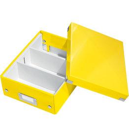 LEITZ Aufbewahrungsbox Click & Store WOW, klein, 2-3Fä., 22x28,2x10cm, gelb