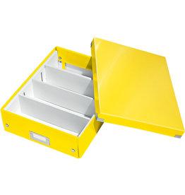 LEITZ Aufbewahrungsbox Click & Store WOW, mittel, 2-4Fä., 28,1x37x10cm, gelb