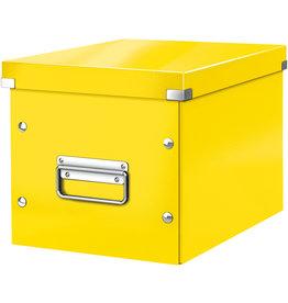 LEITZ Aufbewahrungsbox Click & Store WOW, Cube mittel, 26x26x24cm, gelb